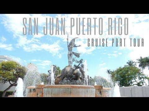 San Juan Puerto Rico Cruise Port Tour & Travel Vlog