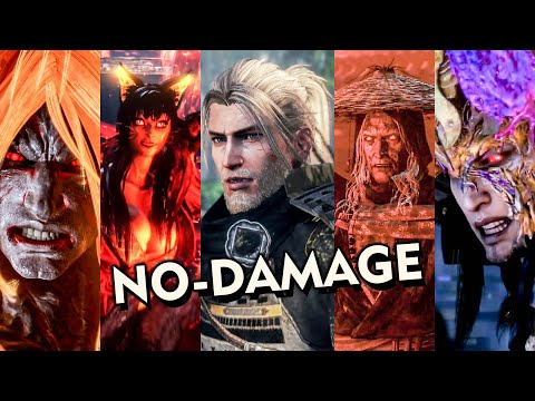 Nioh 2 - All Boss Fights (No Damage)