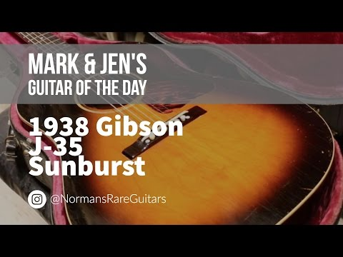Norman's Rare Guitars – Guitar of the Day: 1938 Gibson J-35