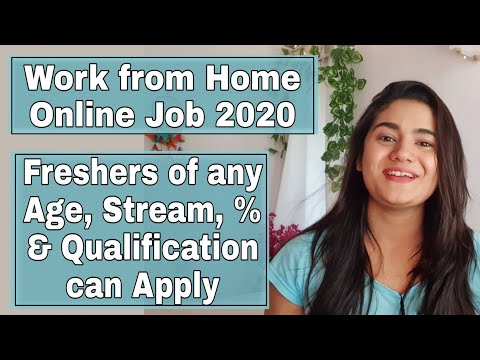 August 2020 Job Vacancy for Freshers : Work from Home Online Job. Any Age & Qualification can Apply.