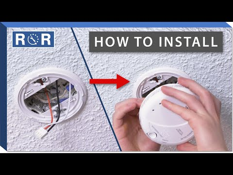 How To Install A Smoke Detector Repair And Replace Youtube