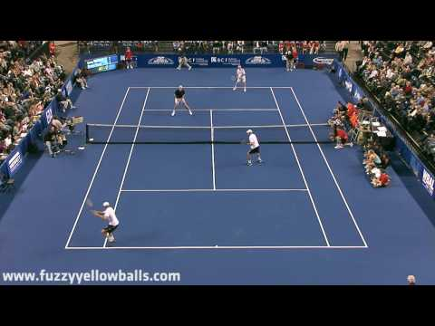 John Isner & John McEnroe vs Bob and Mike Bryan