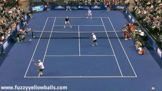 John Isner & John McEnroe vs Bob and Mike Bryan