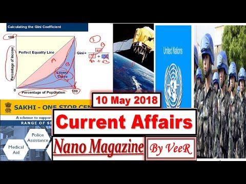 10 May 2018 - PIB, Yojana, AIR News- Nano Magazine - ADB, NASA, ISRO, IRNSS - Current Affairs - VeeR