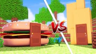 Minecraft: CASA DE HAMBURGUER VS CASA DE BATATA FRITA ‹ JUAUM ›