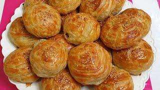 Qatlari zo r chiqadigan Somsa Самса очень Слоёная и вкусно
