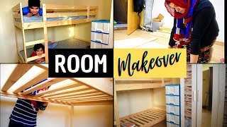 Bunk Bed for my kids and their Room Makeover