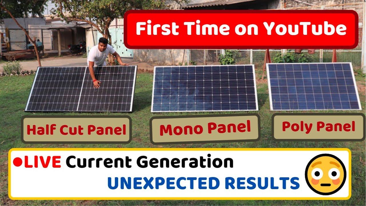 Download Half Cut Vs Mono Vs Poly Solar Panel - Comparison + Live Current Test + Advantages & Disadvantages