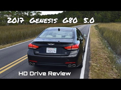 2017 Genesis G80 5.0 Ultimate V8 HD Performance Drive Review