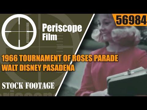 1966 TOURNAMENT OF ROSES PARADE  WALT DISNEY  PASADENA CALIFORNIA 56984