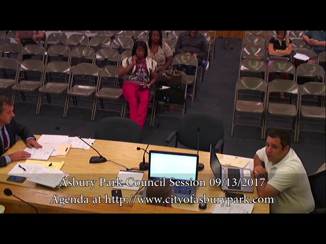 Asbury Park City Council Meeting - Sept. 13, 2017