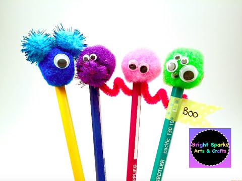 Monster Pencil Toppers * DIY * Art Craft Fun