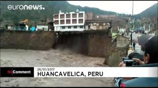 В Перу, полноводные воды смыли гостинницу!...