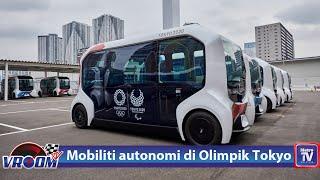Mobiliti autonomi e-Palette di Olimpik Tokyo 2020