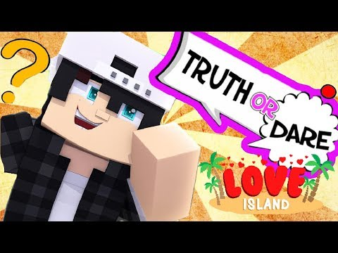 Minecraft LOVE ISLAND - RAVEN PLAYS TRUTH OR DARE AND SPIN THE BOTTLE