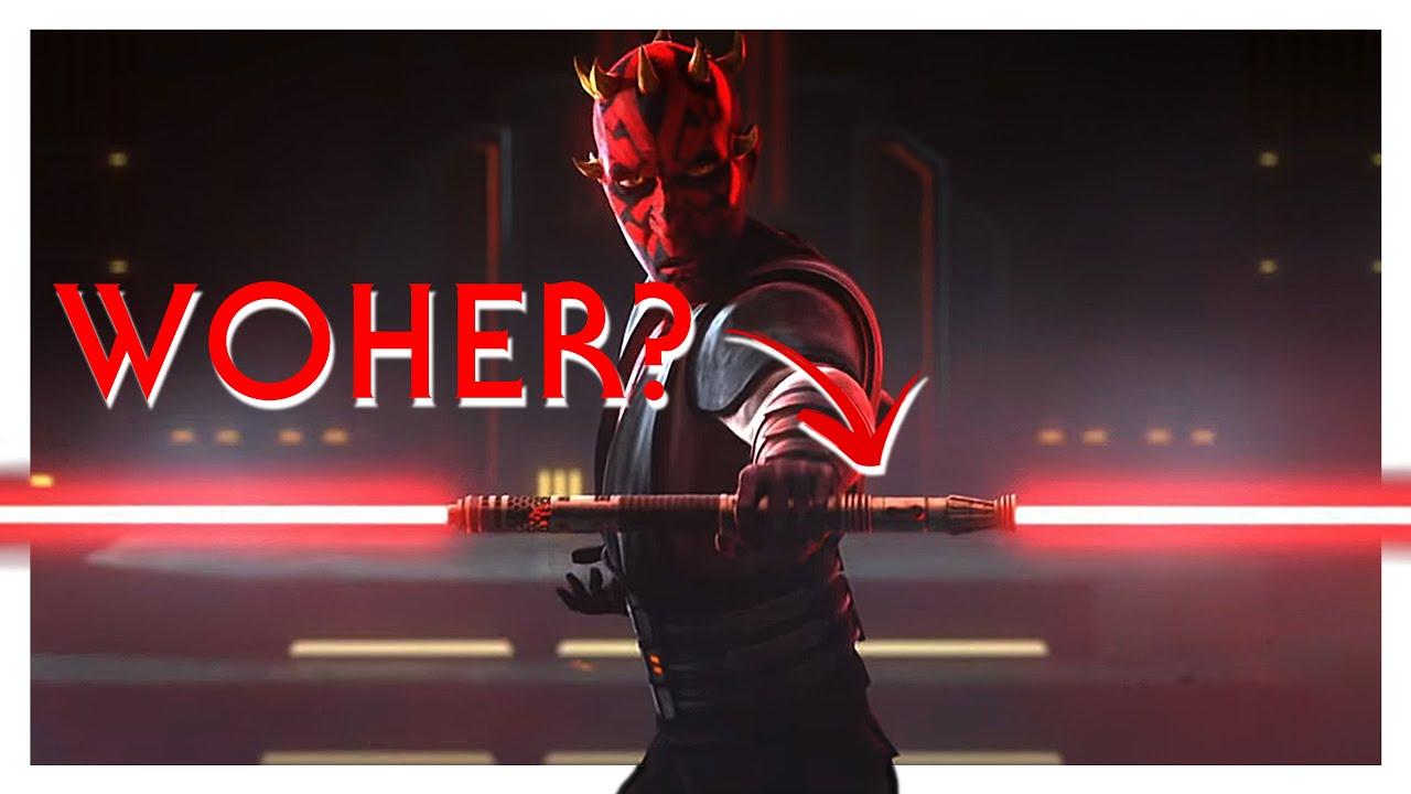 Aus diesem Grund hatte Darth Maul ein doppelseitiges Lichtschwert   Star Wars   Legends Deutsch