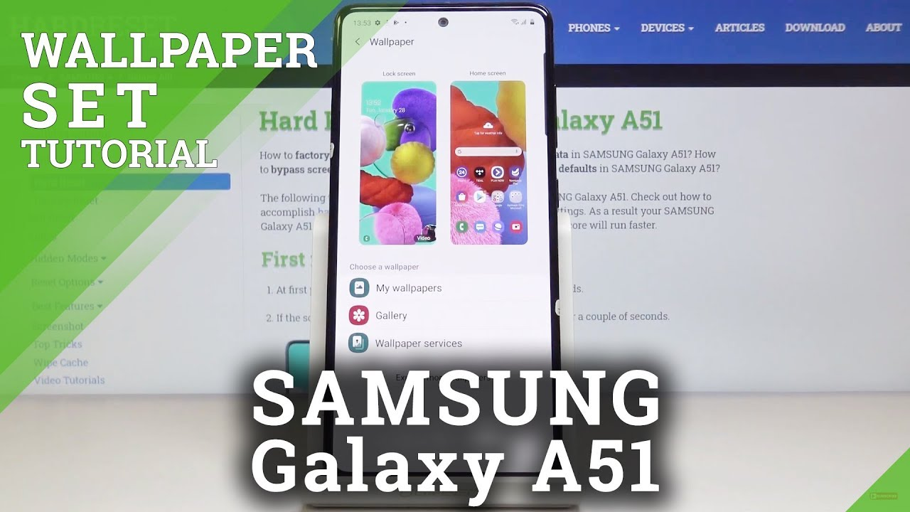 How To Change Wallpaper On Samsung Galaxy A51 Simple Explanation Youtube