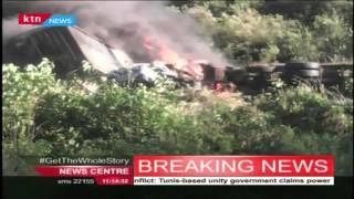 Five vehicles burnt down in the Mai Mahiu accident