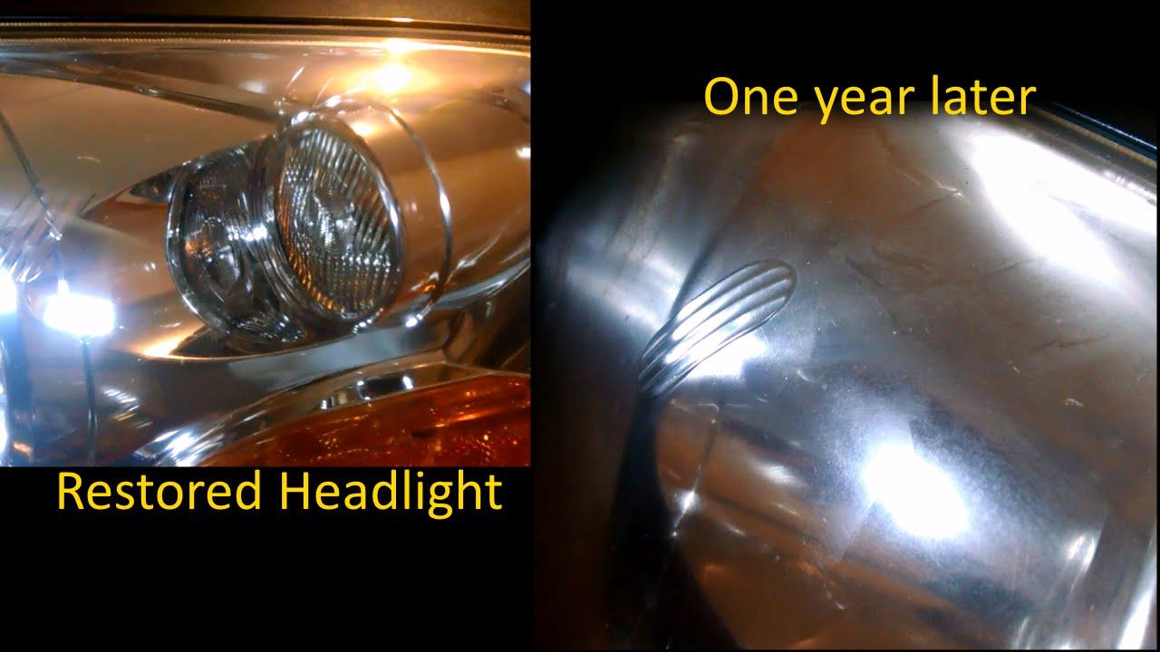 Sylvania Headlight Restoration Long Term Update One Year Later