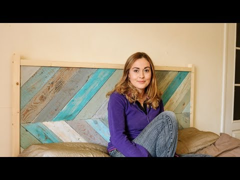 diy-chevron-pallet-wood-£10-headboard-/-the-carpenter's-daughter