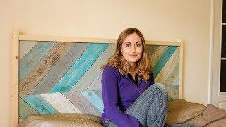 DIY Chevron Pallet Wood £10 Headboard / The Carpenter's Daughter
