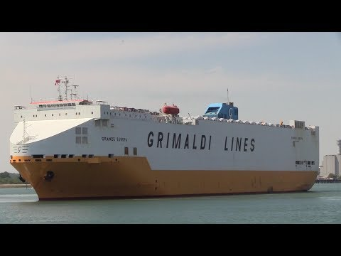 Grimaldi 'Grande Europa' Vehicle Carrier Southampton for Sagunto in Spain 22/05/18