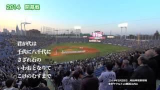 2014年3月28日 明治神宮野球場 東京ヤクルトvs横浜DeNA 2014年開幕戦と...