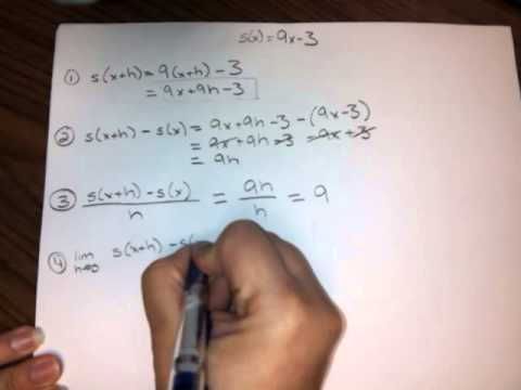 (HW7,#3) The four-step process for s(x) = 9x - 3