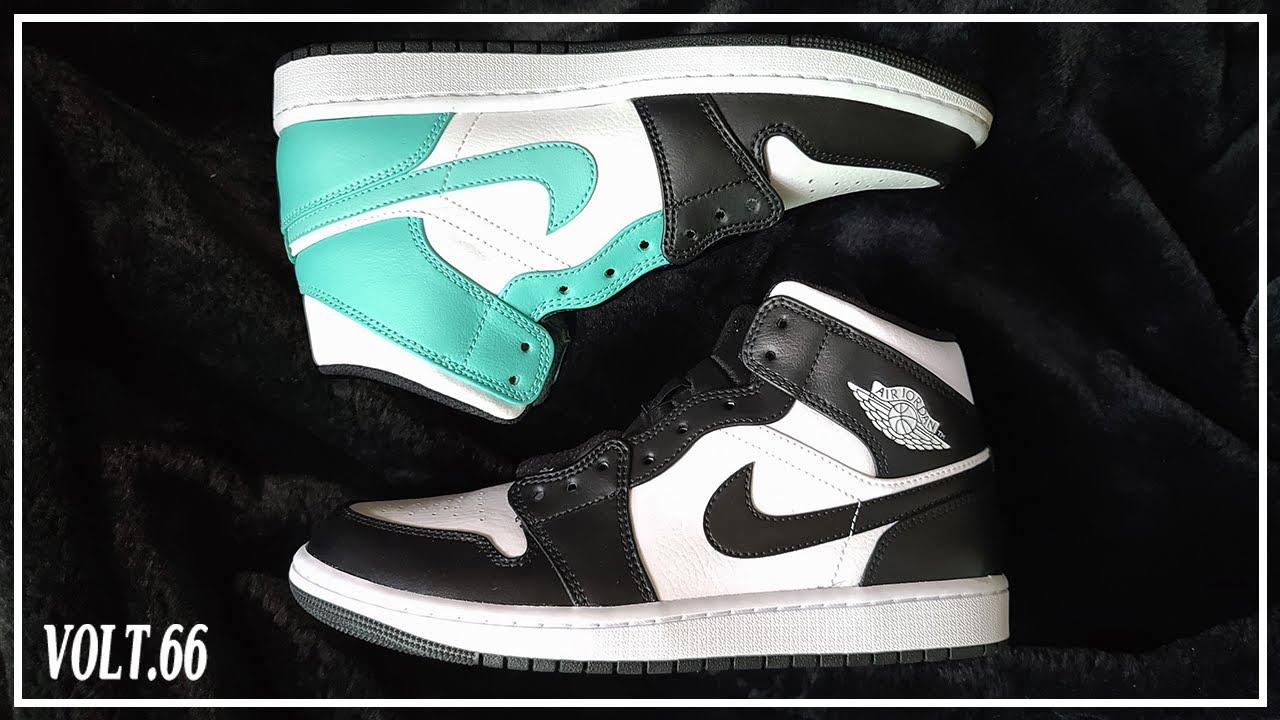[Custom Shoes] Jordan 1 Mid Panda Custom