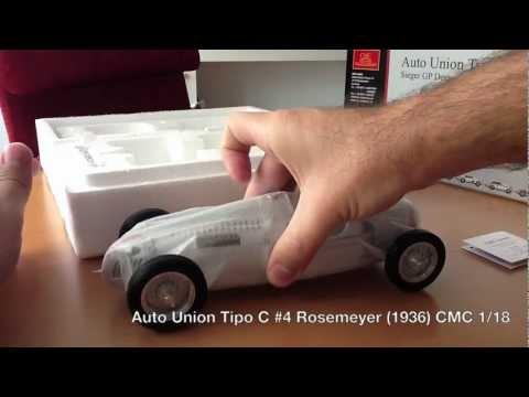 Auto Union Tipo C 4 Rosemeyer 1936 CMC 1:18
