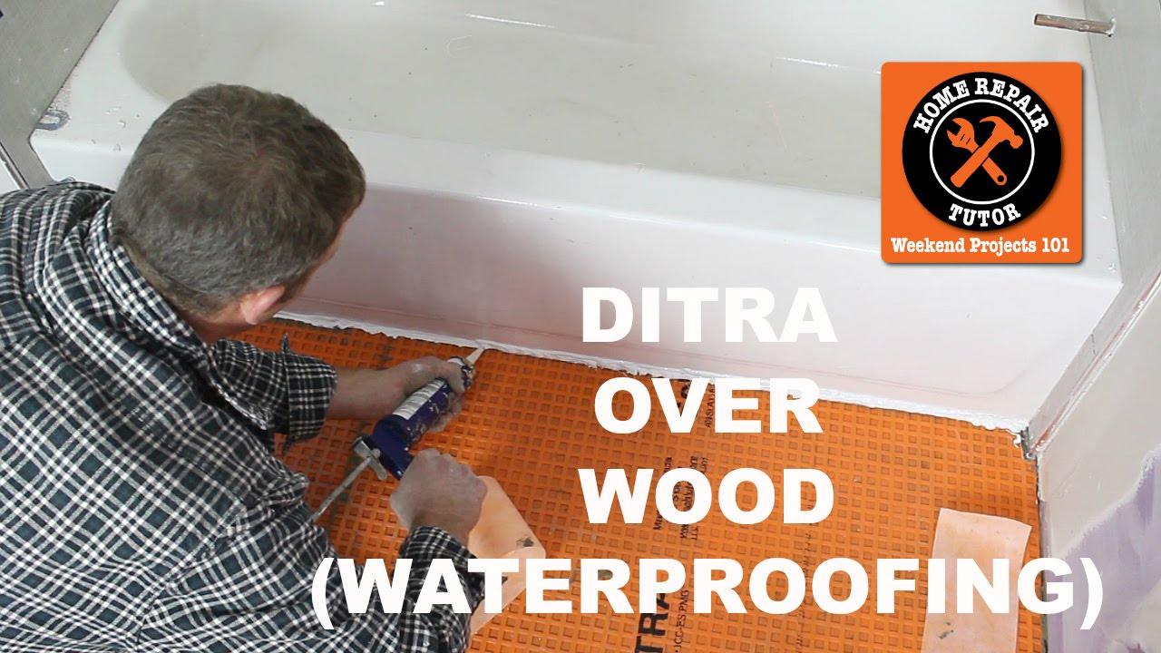 install ditra on a wood subfloor stop