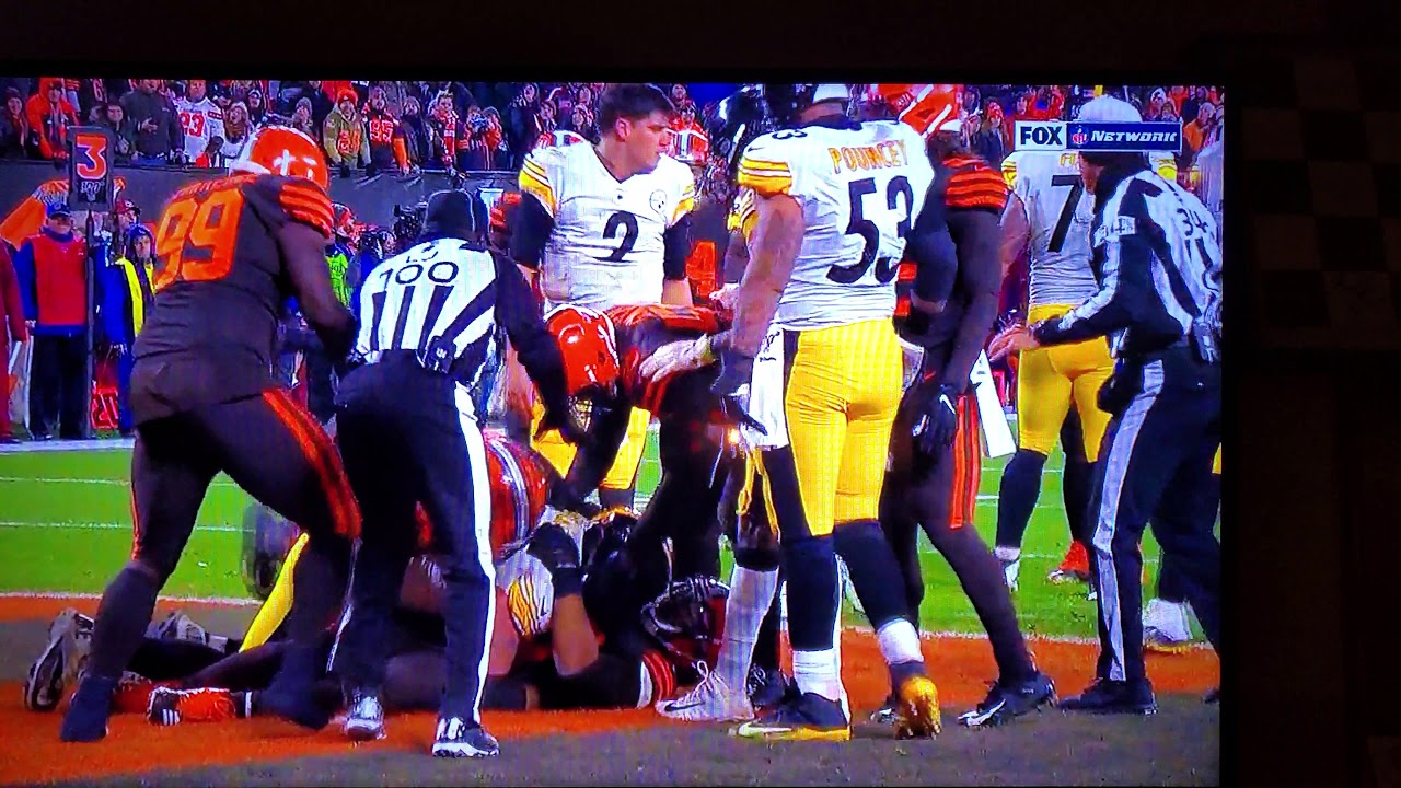 Thursday Night Football Fight Pittsburgh Steelers At Cleveland Browns Fight Full Video 4k 11 15 19