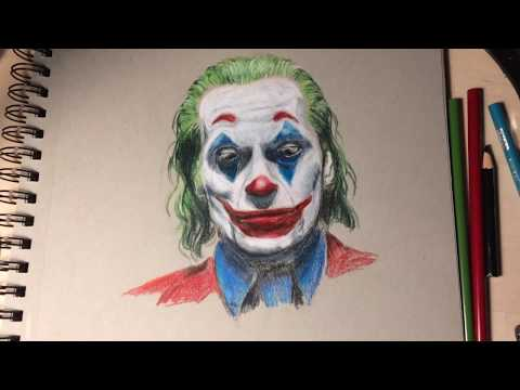 The Joker Speed Draw Coloured Pencil Drawing Youtube