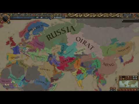 Europa Universalis 4 AI Only Timelapse - Eurasia - [1444-1821] [All DLC] |