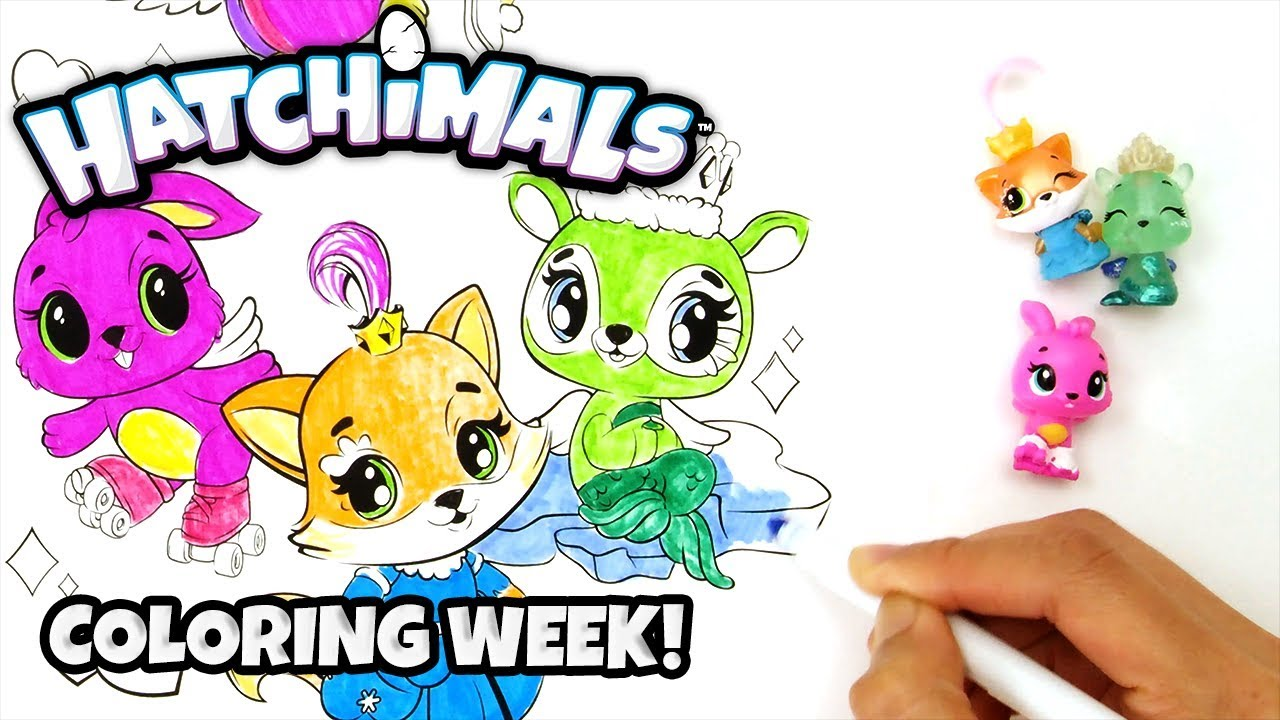 Coloring Owlicorn, Polar Piper And MORE❤️ 💛 💚 Hatchimals