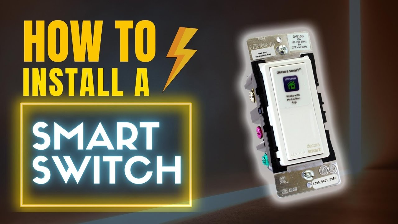 how to install a smart light switch diy electrical youtube. Black Bedroom Furniture Sets. Home Design Ideas