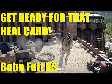 Star Wars Battlefront 2 - Getting ready for that Boba Fett heal card! (Boba Fett and Darth Vader) thumbnail