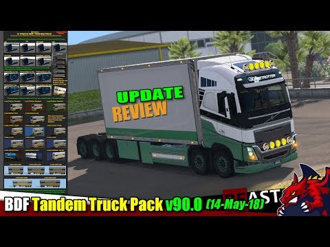 "ETS2 (1.31b) | tuning mod ""BDF Tandem Truck Pack"" v90.0 (14 May 18) - review"