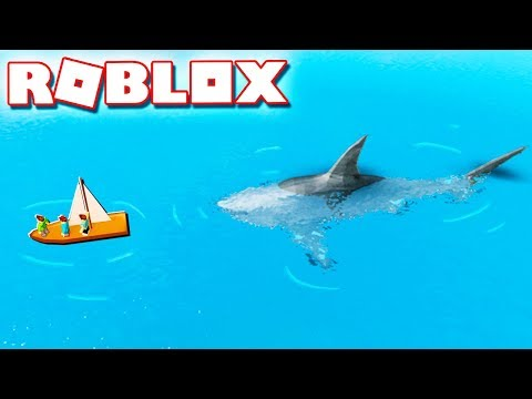 Roblox Adventures - BE THE JAWS SHARK & ATTACK IN ROBLOX! (SharkBite Alpha)