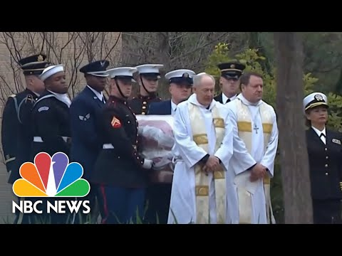 Final Look At Former President George H.W. Bushs Casket Before Private Burial | NBC News