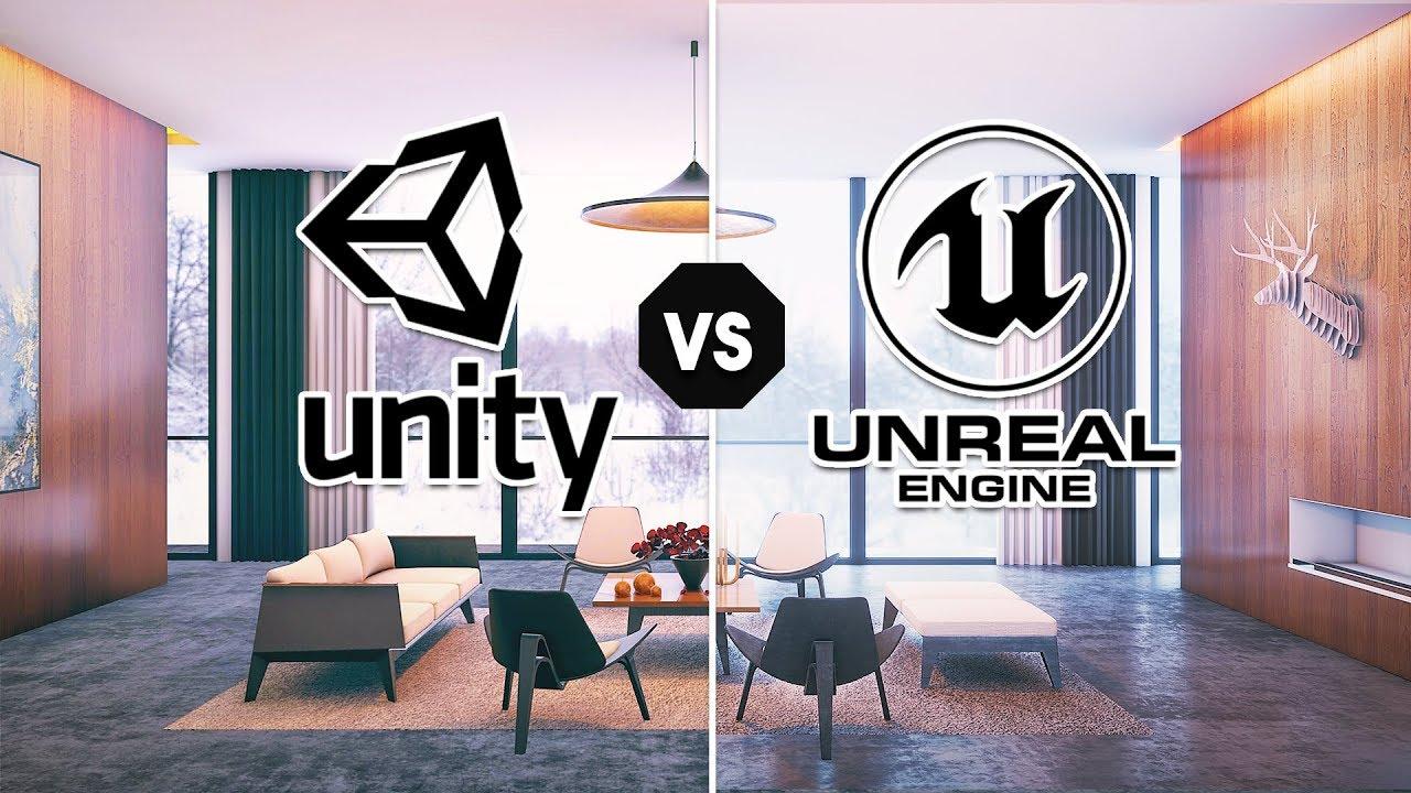 unity vs unreal   interior rendering comparison 2019  hdrp