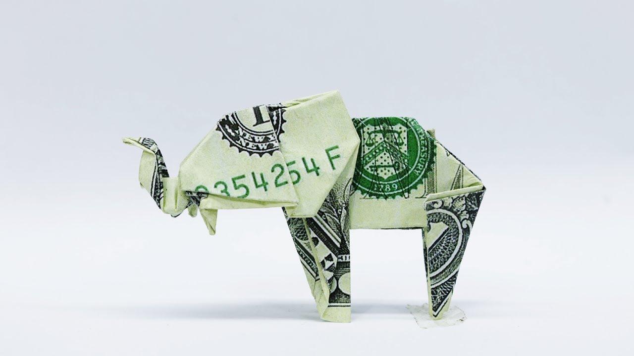 Dollar Origami Elephant - YouTube | 720x1280