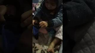 Unbelievable Creative Cute Kid Memory Trying to Copy his Parents work