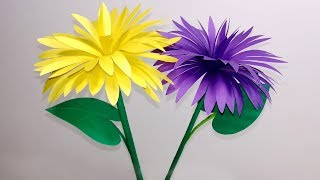 Stick Flower: How to Make Stick Flower | Making Paper Flowers Step by Step| Jarine's Crafty Creation