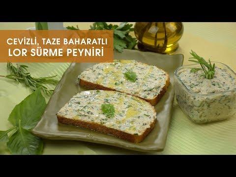 Cevizli Taze Baharatlı Lor Krem Sürme Peynir