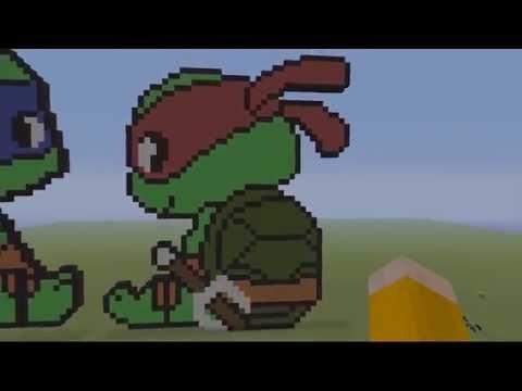 tmnt-minecraft-pixel-art---baby-raphael