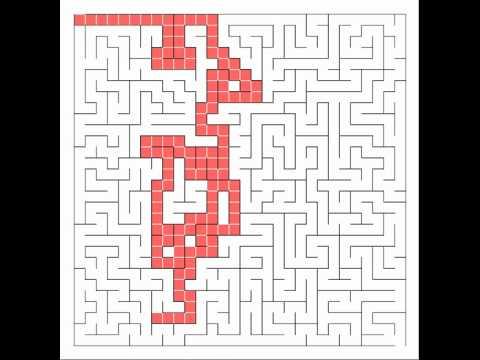 Maze Solving Algorithm w/ Growing Tree Maze