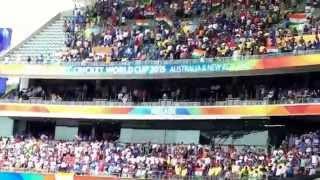 Indian National Anthem India vs Pakistan Adelaide 2015 - 40000 indians singing electrifying moments