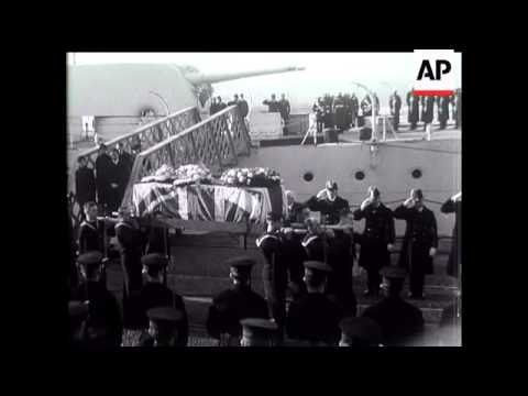 Ramsay MacDonald Is Borne Home On Last Journey To Britain.
