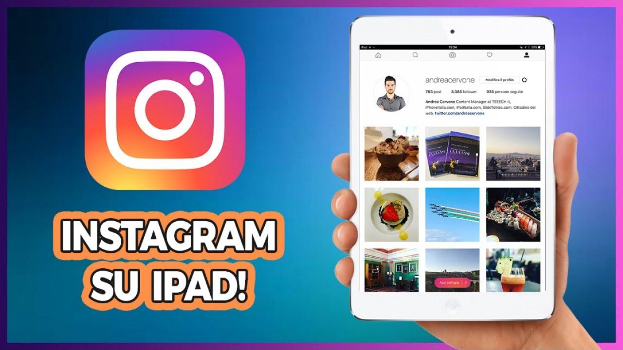 come scaricare foto da instagram su ipad